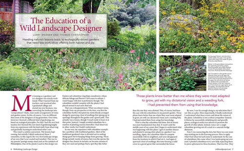 Education of Wild Landscape Designer